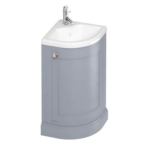 Burlington Corner Vanity Unit Grey One Door with 1 tap hole Basin