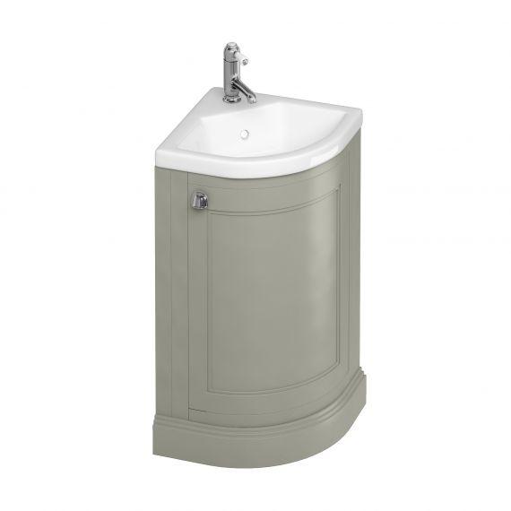 Burlington Corner Vanity Unit Olive One Door with 1 tap hole Basin