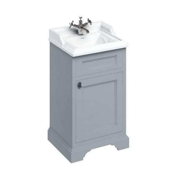 Burlington 50cm Vanity Unit One Door Grey with 1 tap hole Basin