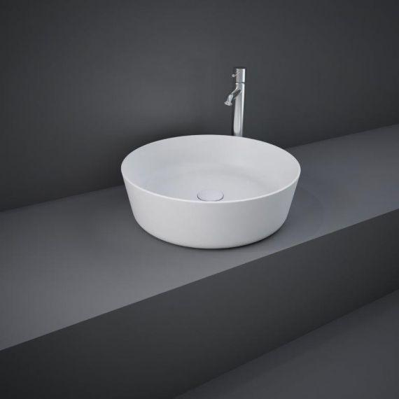 RAK-Feeling 42cm Round Counter Top Wash Basin  in Matt White