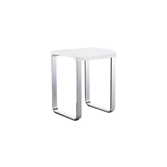 Smedbo Outline Shower Chair With White Seat