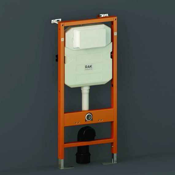 RAK-Ecofix 12cm Front Flush Regular Concealed Cistern and Frame for Wall Hung Pan - Frame Height 114cm
