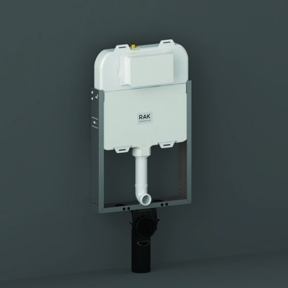 RAK-Ecofix slimline (8cm) Hidden Cistern with metal frame for Wall Hung WC Suitable for block work wall