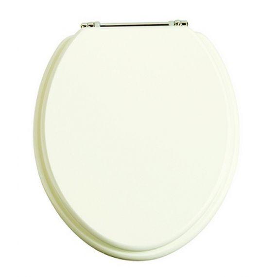 Heritage White Ash/Chrome Toilet seat