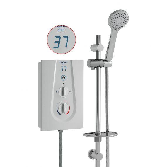 Bristan Glee 10.5kW Electric Shower White GLE3105 W