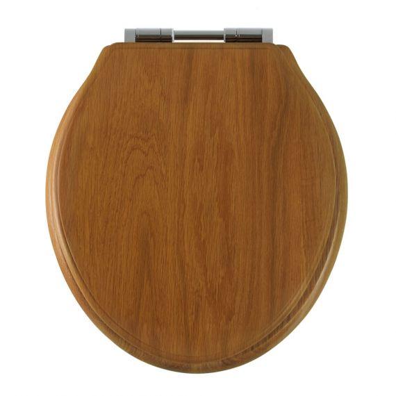 Greenwich Honey Oak Soft Close Toilet Seat