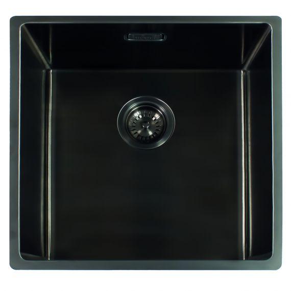 Reginox Miami Single Bowl Integrated/Undermount Kitchen Sink Gun Metal 540 x 440mm