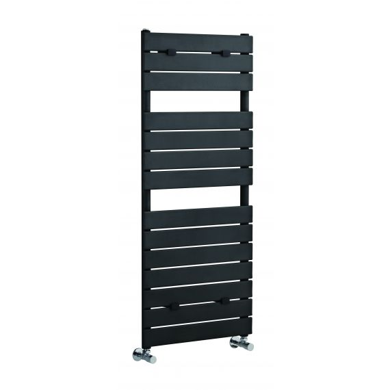 Piazza 14 Panel Heated Towel Rail Anthracite 1213 x 500