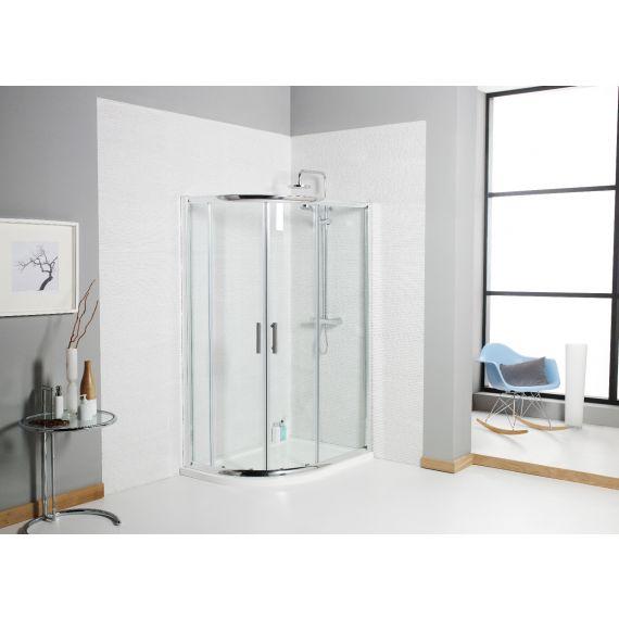 Koncept 1200x800 Offset Quadrant Shower Enclosure 6mm Glass