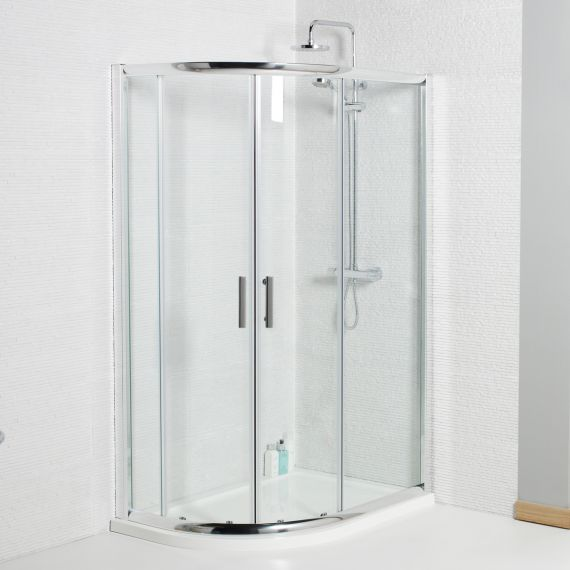 Koncept 1200 x 900mm OffsetQuadrant Shower Enclosure