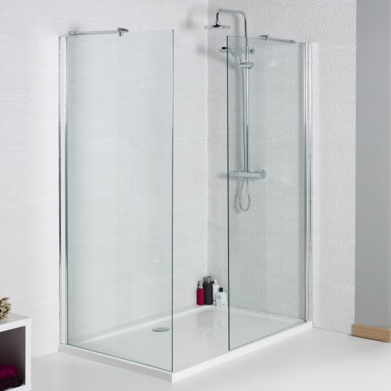 760mm 8mm Wetroom Glass Panel