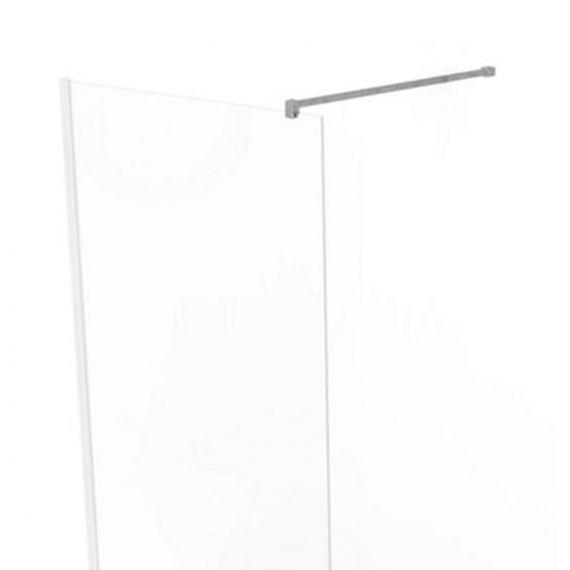 Kudos Wetroom Wall Profile + Front Panel Fixing Kit Inc 1000mm Stabilising Bar
