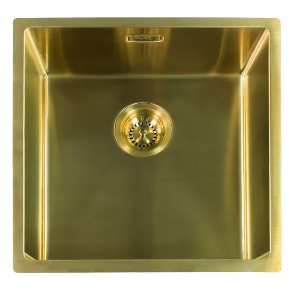 Reginox Miami Single Bowl Integrated/Undermount Kitchen Sink in Gold 540 x 440mm