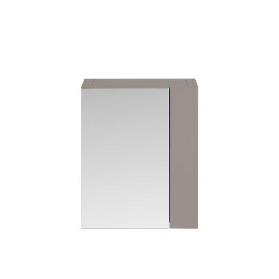 Nuie Athena Stone Grey 600mm Mirror Unit (75/25)