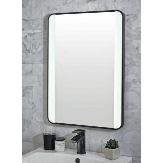 Black Mono Soft Square LED Mirror 500x700mm