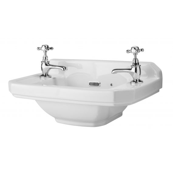 515mm Cloakroom Basin (2 Tap Hole)