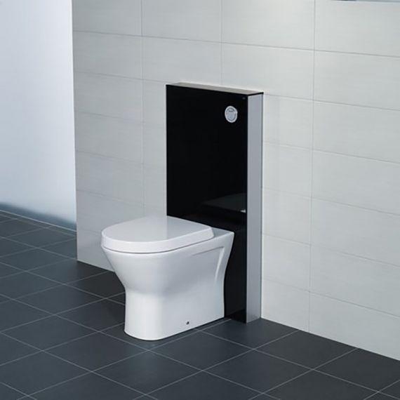 RAK Obelisk Glass Cabinet Cistern Frame for Back to Wall Toilets Gloss Black
