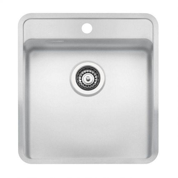Reginox Ohio 40 x 40 Tapwing Arctic White Stainless Steel Sink