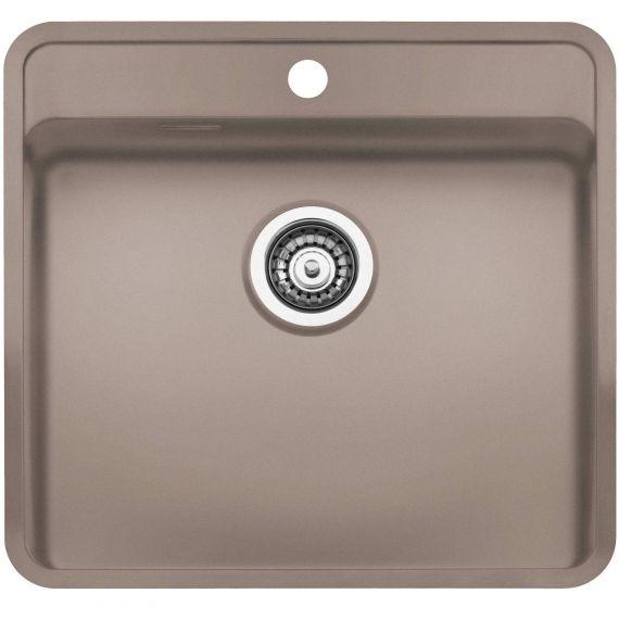 Reginox Ohio Coloured Stainless Steel Kitchen Sink Tap Wing Beige 440 x 510mm