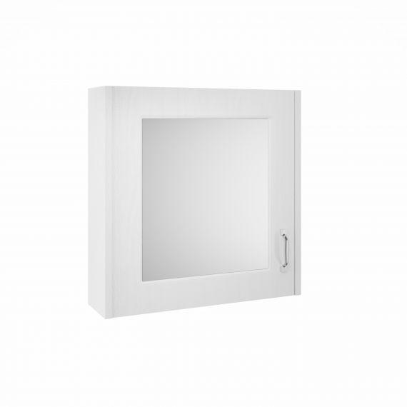 Nuie York White Ash 600mm Mirror Cabinet
