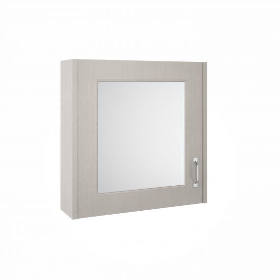Nuie York Stone Grey 600mm Mirror Cabinet