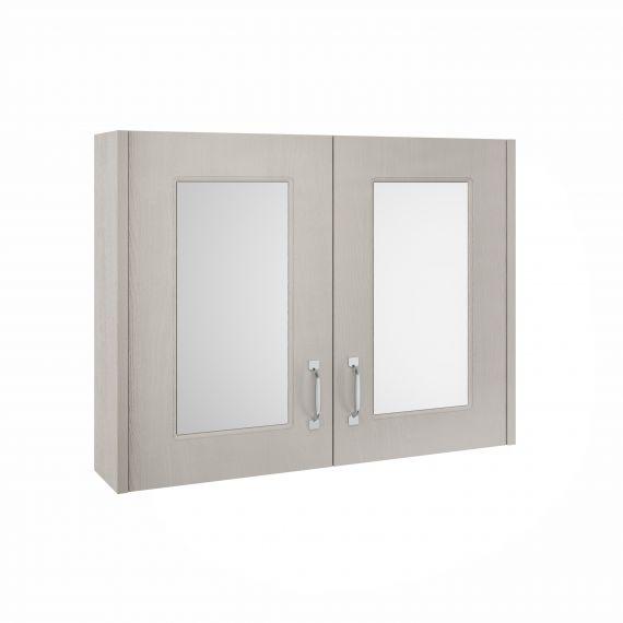 Nuie York Stone Grey 800mm Mirror Cabinet