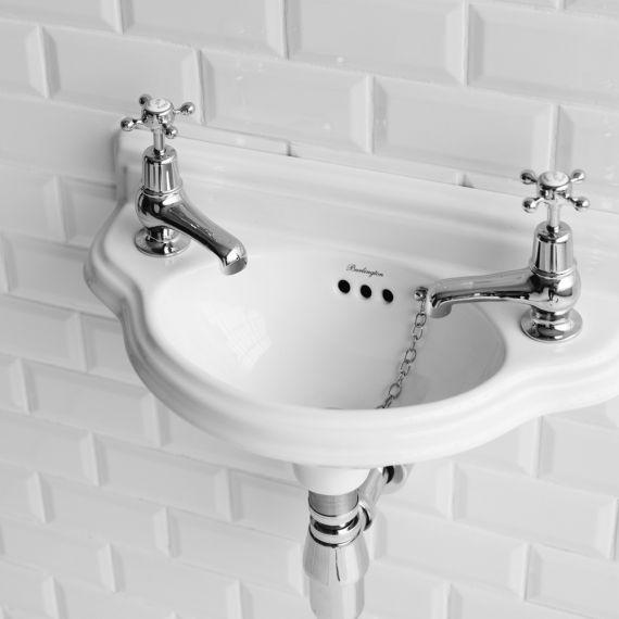 Burlington Curved Cloakroom Basin 505mm