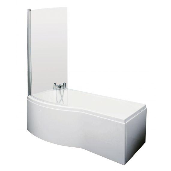 Nuie 1500mm B Shaped Left Hand Bath Set