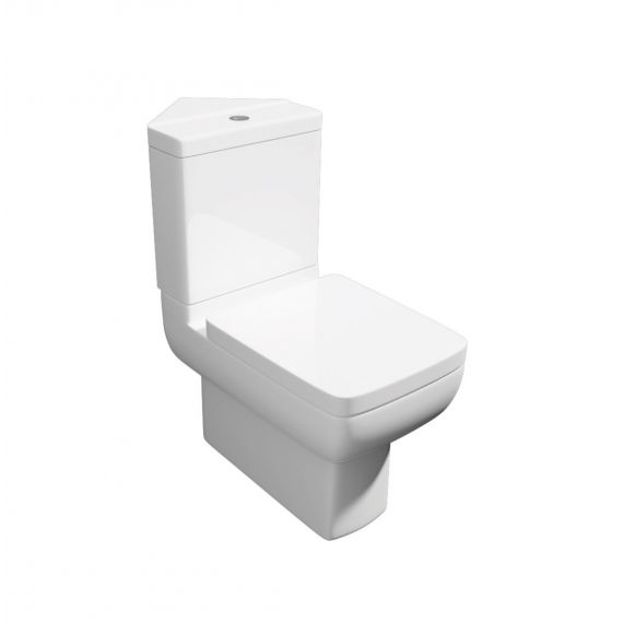 Options 600 Square Corner Modern Toilet & Soft Close Seat