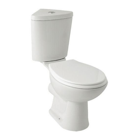 G4K Corner Close Coupled Toilet & Seat