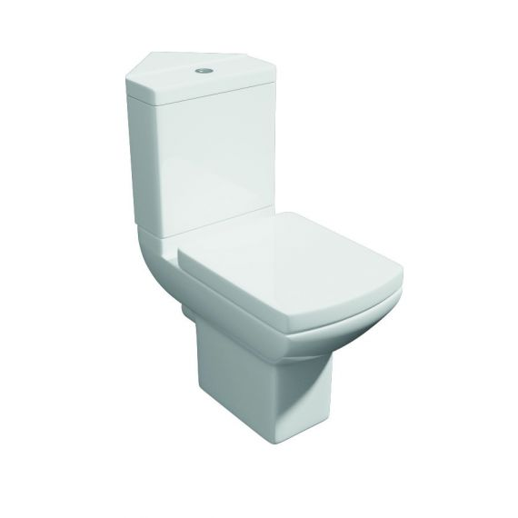 Pure Modern Square Corner Toilet & Soft Close Seat