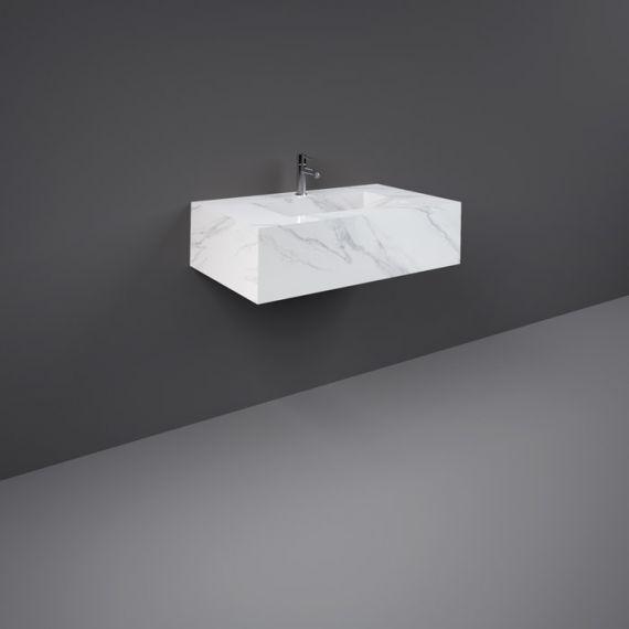 Rak Precious Counter Wash Basin 800mm 1TH Carrara