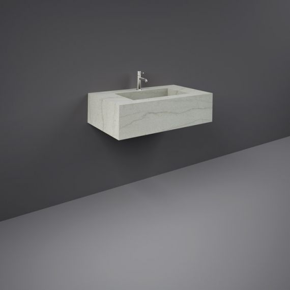 RAK-Precious 800mm Wall Mounted Counter Wash Basin with 1th in Macaubus