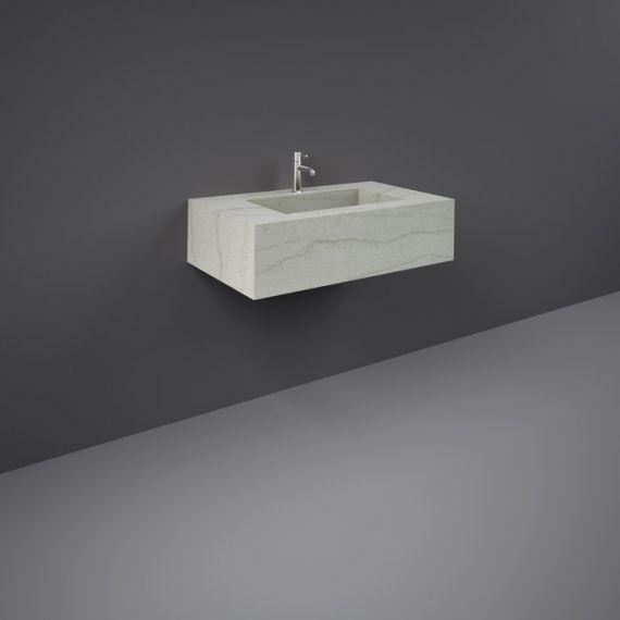 RAK-Precious 800mm Wall Mounted Counter Wash Basin with 0th in Macaubus
