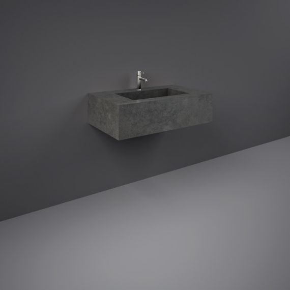RAK-Precious 800mm Wall Mounted Counter Wash Basin with 0th in Behind Grey