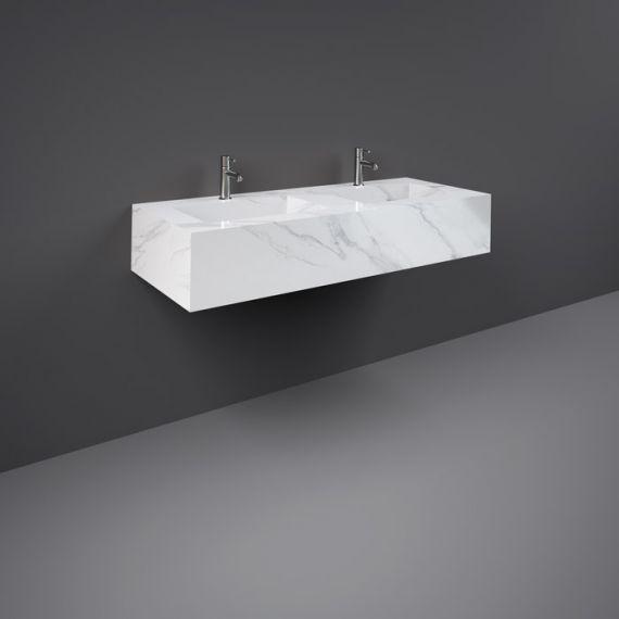RAK-Precious 1200mm Wall Mounted Counter Wash Basin with 1th in Carrara