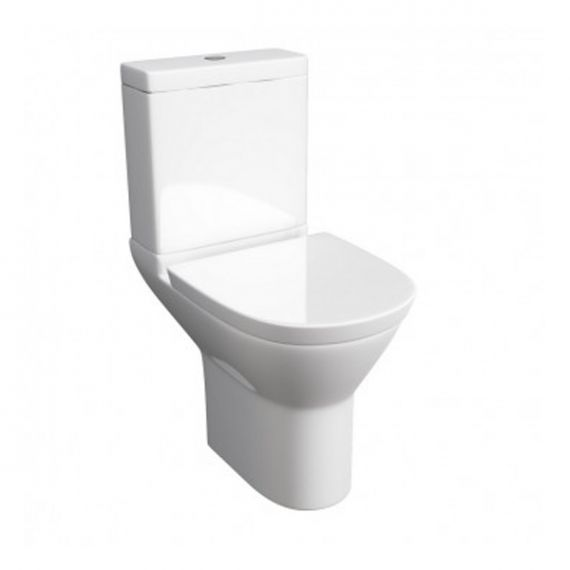 Kartell Project Round Close Coupled Toilet with Soft Close Seat