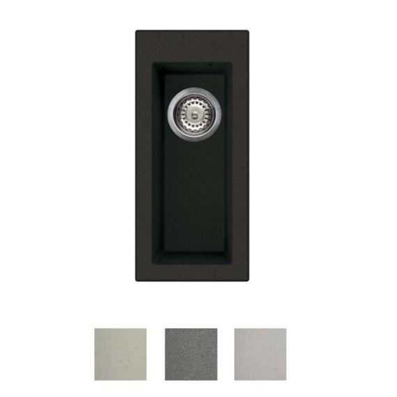 Reginox Quadra 50 Granite 0.5 Bowl Undermount Kitchen Sink & Waste Kit 200 x 440mm QUADRA50B