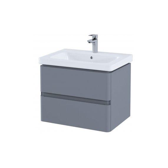 RAK-Resort 650 Double Draw Basin Unit in Matt Grey