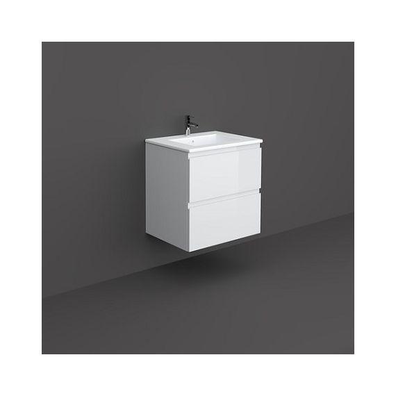 Rak Joy 600mm Wall Hung Basin Unit White Inc Basin