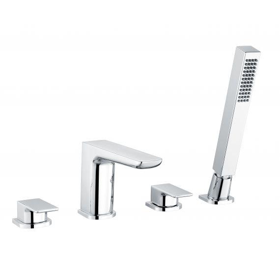 RAK-Moon 4 Hole Deck Mounted Bath Shower Mixer