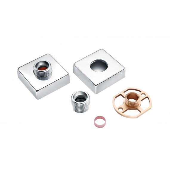 Exposed Square Shower Bar Mixer Easy Fitting Kit (Pair)