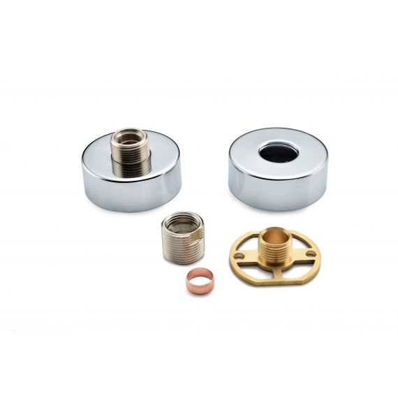 Exposed Round Shower Bar Mixer Easy Fitting Kit (Pair)