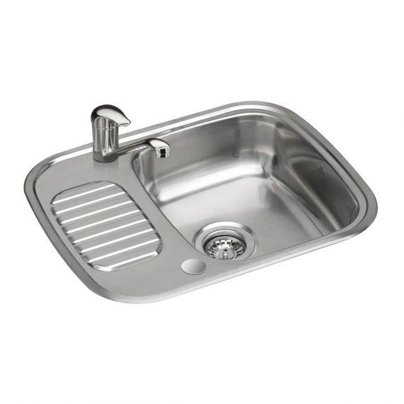Reginox Regidrain-r 1.0 Bowl Polished Stainless Steel Kitchen Sink