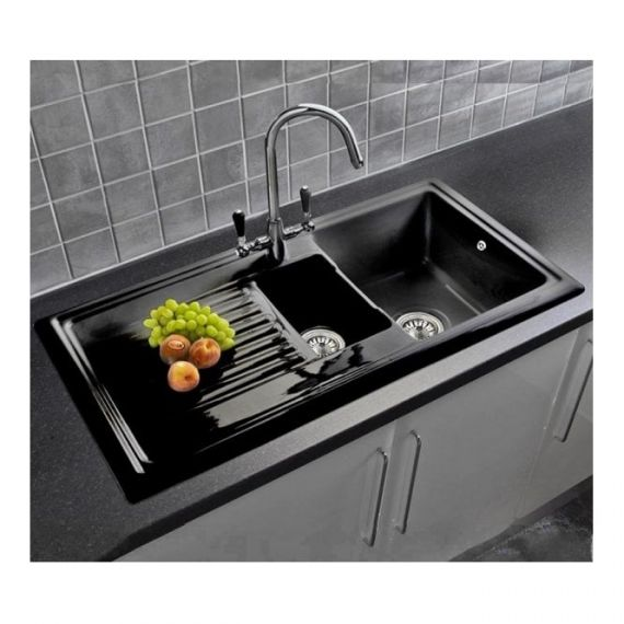 Reginox RL401CB 1.5 Bowl Ceramic 1010 x 525mm Inset Kitchen Sink