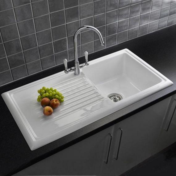 Reginox 1 Bowl Ceramic Kitchen Sink