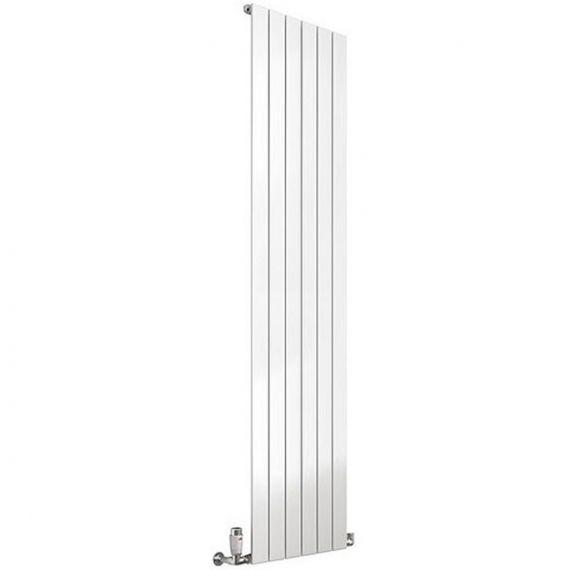 Reina Flat Vertical Single Panel Designer Radiator 1800 x 440mm White