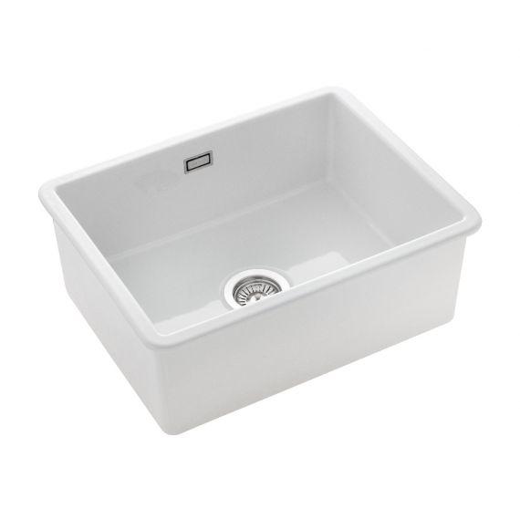 Rangemaster Rustique Ceramic Inset 1 Bowl  Sink 598x462