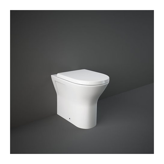 RAK Resort Extended Height Back to Wall Rimless Pan Inc Soft Close Seat
