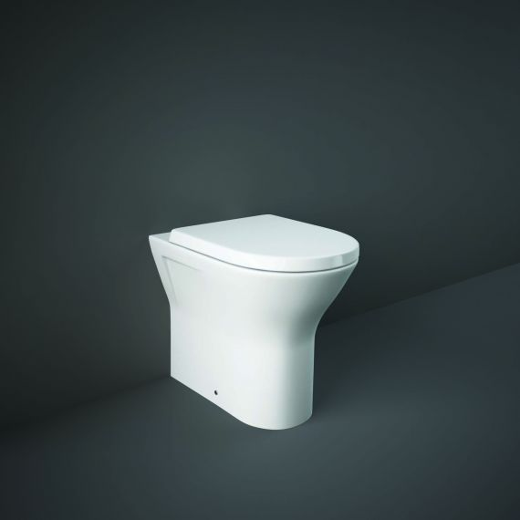 RAK-Resort Extended Comfort Height 45cm Back to Wall WC Pan with Wrap Over Soft Close Seat